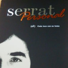 CDs de Música: JOAN MANUEL SERRAT * PERSONAL SONY 1983 * CD CADA LOCO CON SU TEMA. Lote 262918150
