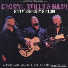 """CDs de Música: CROSBY, STILLS & NASH """" EXIT ZERO BERLIN """" 2 CD. Lote 262918775"""