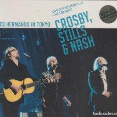 """CDs de Música: CROSBY, STILLS & NASH """" TRES HERMANOS IN TOKYO """" BOX 4 CD. Lote 262920465"""