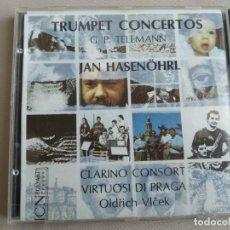 CDs de Música: TELEMAN. TRUMPET CONCERTOS. JAN HASENHROL. CLARINO CONSORT. VIRTUOSI DI PRAGA. OLDRICH VLECEK.. Lote 263011695
