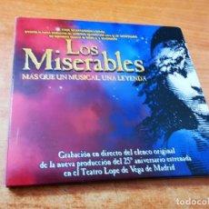 CDs de Música: LOS MISERABLES MAS QUE UN MUSICAL, UNA LEYENDA EN ESPAÑOL CD 2011 DANIEL DIGES ELENCO LOPE DE VEGA. Lote 263012960