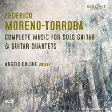CDs de Música: FEDERICO MORENO TORROBA: COMPLETE MUSIC FOR GUITAR. Lote 263013240