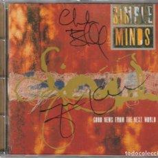 CDs de Música: SIMPLE MINDS - GOOD NEWS FROM THE NEXT WORLD (CD VIRGIN 1995) FIRMADO POR JIM KERR CHARLIE BURCHILL. Lote 263049425