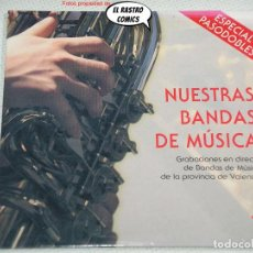 CD de Música: NUESTRAS BANDAS DE MÚSICA 1, DE LA PROVINCIA DE VALENCIA, ESPECIAL PASODOBLES, CD 2006. Lote 263053860