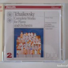 CDs de Música: TCHAIKOVSKY. COMPLETE WORKS FOR PIANO AND ORCHESTRA. DOBLE COMPACTO PHILIPS.. Lote 263123755