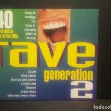 CDs de Música: 40 HARD DANCE HITS 90 RAVE GENERATION 2 DOBLE CD PEPETO. Lote 263164195