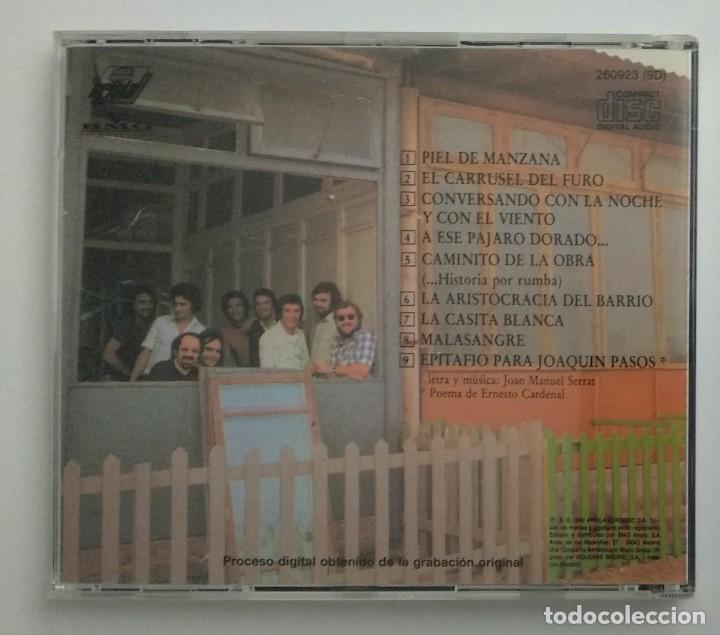 CDs de Música: 1° edición sin código de barras / JOAN MANUEL SERRAT 1990 CD impecable - ...PARA PIEL DE MANZANA - Foto 2 - 263191950