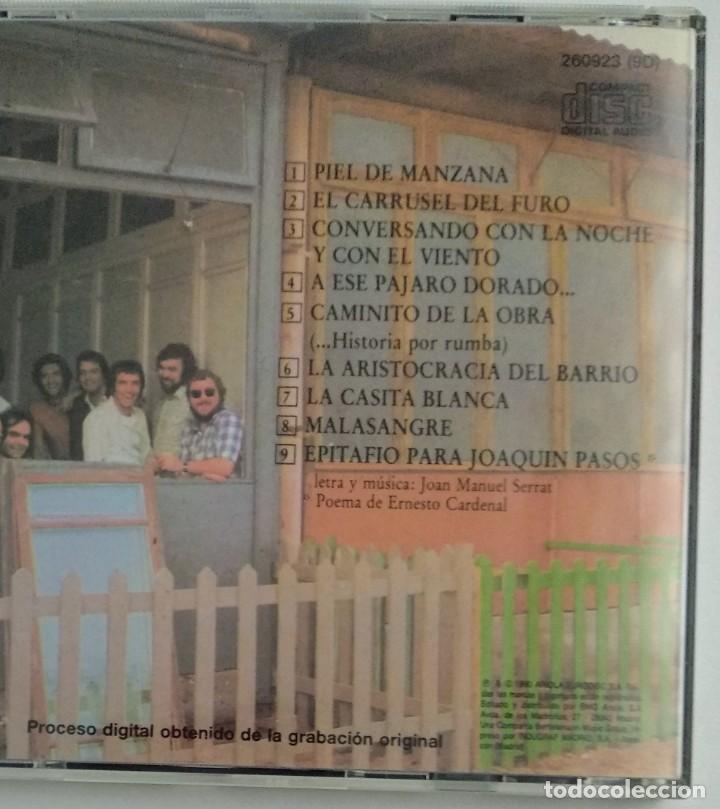 CDs de Música: 1° edición sin código de barras / JOAN MANUEL SERRAT 1990 CD impecable - ...PARA PIEL DE MANZANA - Foto 3 - 263191950
