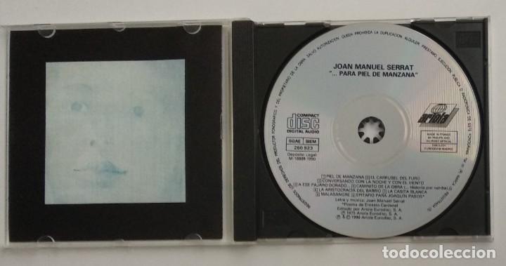 CDs de Música: 1° edición sin código de barras / JOAN MANUEL SERRAT 1990 CD impecable - ...PARA PIEL DE MANZANA - Foto 5 - 263191950