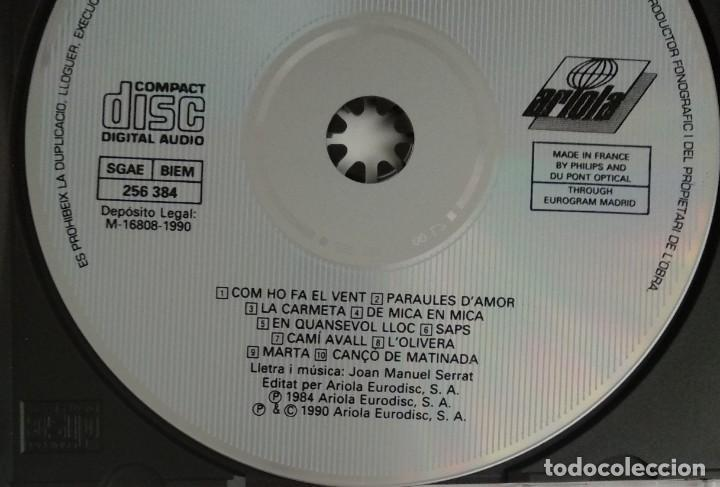 CDs de Música: 1° edición sin código de barras / JOAN MANUEL SERRAT 1990 CD impecable - COM HO FA EL VENT - Foto 3 - 263192885