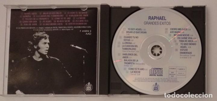 CDs de Música: 1° edición sin código de barras / RAPHAEL 1987 CD impecable - GRANDES EXITOS - Foto 5 - 263200400