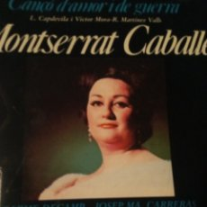 CDs de Música: CD MONTSERRAT CABALLE CANÇO DE AMOR Y DE GUERRA. Lote 263206900