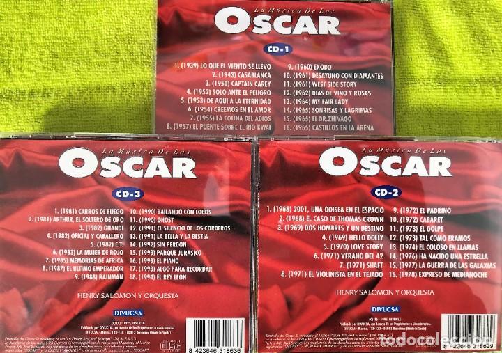 CDs de Música: LA MÚSICA DE LOS OSCAR - Henry Salomon Y Orquesta - TRIPLE CD - Foto 3 - 263300060