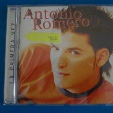 CDs de Música: CD DE MUSICA ANTONIO ROMERO LA PRIMERA VEZ AÑO 2004 Nº 405. Lote 263556910