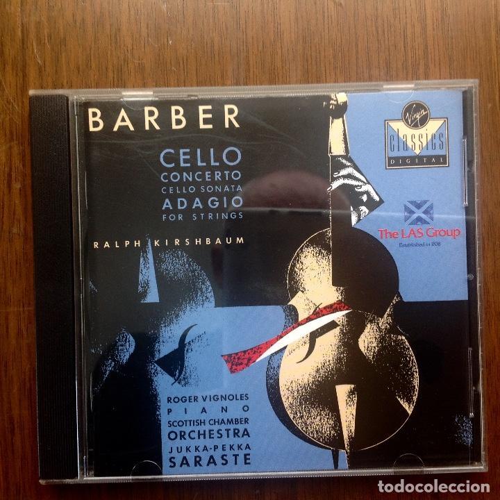 BARBER - ADAGIO FOR STRINGS (Música - CD's Clásica, Ópera, Zarzuela y Marchas)
