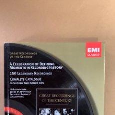 CDs de Música: CATÁLOGO EMI CLASSICS. LIBRETO MÁS DE 100 REFERENCIAS Y DOBLE CD MUESTRAS.. Lote 263570840