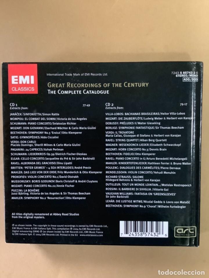 CDs de Música: Catálogo EMI CLASSICS. libreto más de 100 referencias y doble CD muestras. - Foto 4 - 263570840