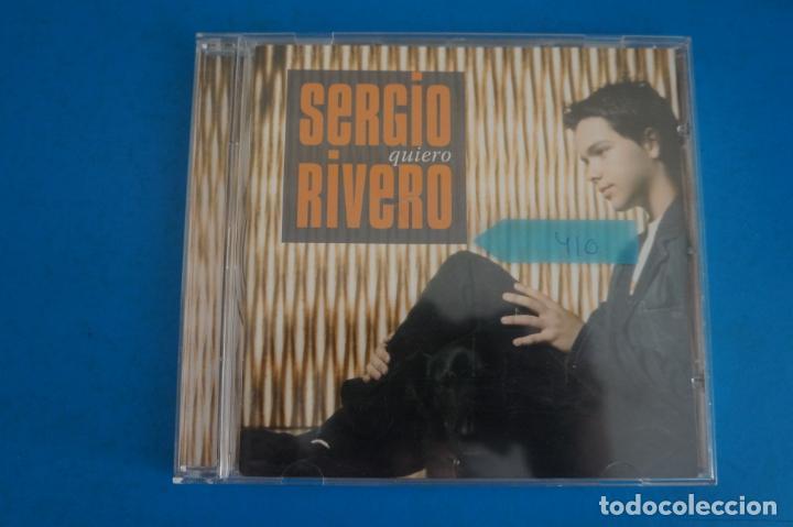CD DE MUSICA SERGIO RIVERO QUIERO AÑO 2005 Nº 410 (Música - CD's Otros Estilos)