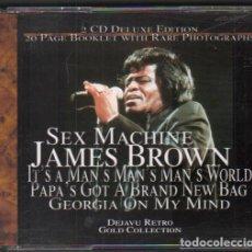 CD de Música: JAMES BROWN - SEX MACHINE / DOBLE CD ALBUM DEL 2001 / MUY BUEN ESTADO RF-9881. Lote 263584765