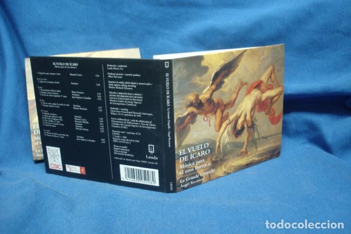 CDs de Música: EL VUELO DEL ÍCARO - MÚSICA PARA EL EROS BARROCO - LAUDA 2005 - Foto 4 - 263587335