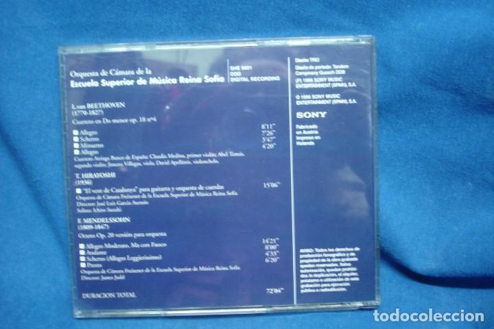 CDs de Música: BEETHOVEN, HIRAYOSHI, MENDELSSOHN - ESCUELA REINA SOFÍA 95/96 - SONY 1996 - Foto 3 - 263589075