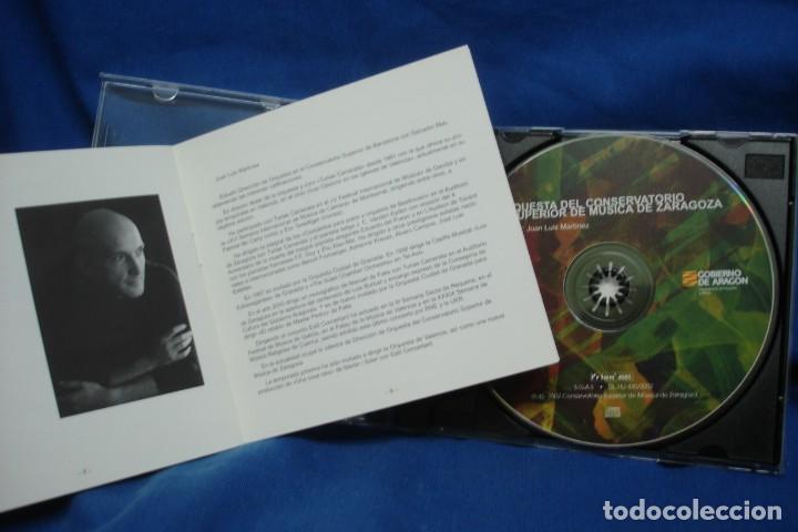 CDs de Música: ORQUESTA DEL CONSERVATORIO DE ZARAGOZA - JUAN LUIS MARTÍNEZ - AÑO 2002 - Foto 2 - 263590395