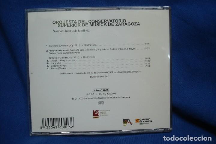 CDs de Música: ORQUESTA DEL CONSERVATORIO DE ZARAGOZA - JUAN LUIS MARTÍNEZ - AÑO 2002 - Foto 3 - 263590395