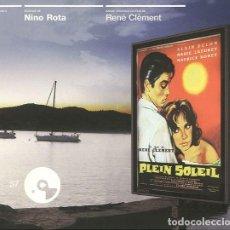 CDs de Música: PLEIN SOLEIL / NINO ROTA CD BSO. Lote 263610545