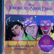 CDs de Música: EL JOROBADO DE NOTRE DAME (BANDA SONORA EN ESPAÑOL). Lote 263661230