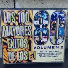 CDs de Música: LOS 100 MAYORES EXITOS DE LOS 80-CAJA CON 4 CD-VOLUMEN 2. Lote 263721170