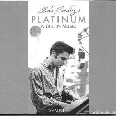 CDs de Música: ELVIS PRESLEY - PLATINUM A LIFE IN MUSIC CD ALBUM EU 1997 12 TEMAS. Lote 263807505