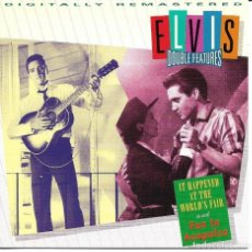 CDs de Música: ELVIS PRESLEY - IT HAPPENED AT THE WORLD'S FAIR + FUN IN ACAPULCO CD ALBUM USA 1993. Lote 263808225