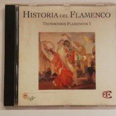 CDs de Musique: W31-HISTORIA DEL FLAMENCO 1- CD DISC NM PORT VG/ENVIO DESDE ESPAÑA!. Lote 263956155