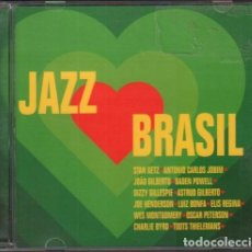CD de Música: JAZZ BRASEL - STAN GETZ, BADEN POWELL, ASTRUD GILBERTO.../ CD ALBUM DE 1998 / BUEN ESTADO RF-9902. Lote 264024170