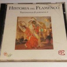 CDs de Musique: W31-HISTORIA DEL FLAMENCO TESTIMONIO 4 -CD DISC NM / PORT VG. Lote 264046685