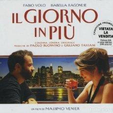 CDs de Música: IL GIORNO IN PIÙ / PAOLO BUONVINO & GIULIANO TAVIANI CD BSO. Lote 264105215