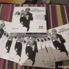 CDs de Música: CD LUIS ARMSTRONG HOTTER THAN THAT 10 CD BOX SET JAZZ. Lote 264322860