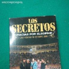 CDs de Música: LOS SECRETOS. GRACIAS POR ELEGIRME. LAS VENTAS 10 OCTUBRE 2008.. 4 CD + LIBRITO. Lote 264340676