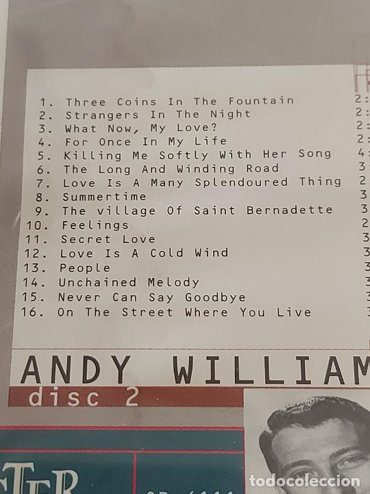 CDs de Música: PAT BOONE / ANDY WILLIAMS / DOBLE CD - MASTER TONE-1996 / 36 TEMAS / IMPECABLES. - Foto 6 - 264434949