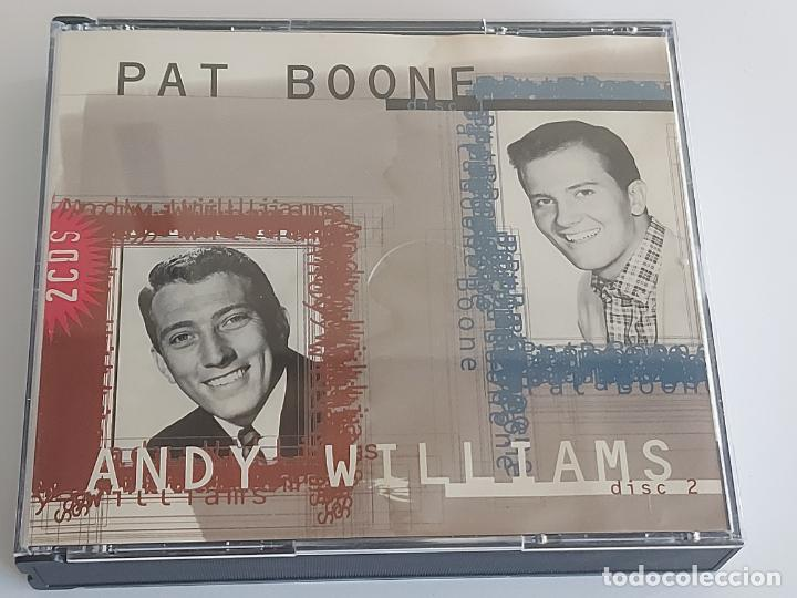 PAT BOONE / ANDY WILLIAMS / DOBLE CD - MASTER TONE-1996 / 36 TEMAS / IMPECABLES. (Música - CD's Melódica )