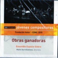 CDs de Música: JOVENES COMPOSITORES - OBRAS GANADORAS / FUNDACIÓN AUTOR. Lote 264452864