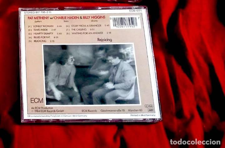 CDs de Música: REJOICING - PAT METHENY + CHARLIE HADEN + BILLY HIGGINS 1984 - Foto 2 - 264802624