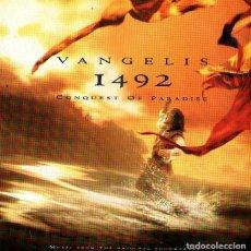 CDs de Música: VANGELIS - 1492, LA CONQUISTA DEL PARAISO - B.S.O. DE LA PELÍCULA - CD 12 TRACKS - WARNER MUSIC 1992. Lote 265410519
