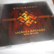 CDs de Música: CD .- KÚLGRINDA -UGNIES APEIGOS(RITE OF FIRE)RITUAL FOLK -17 TEMAS - DANGUS - LITHUANIA . 2002. Lote 265567229