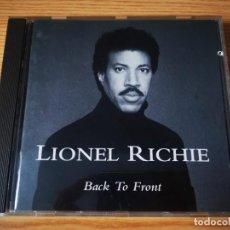 CDs de Música: CD DE LIONEL RICHIE - BACK TO FRONT - EN BUENAS CONDICIONES   MOTOWN RECORDS  . Lote 265745739