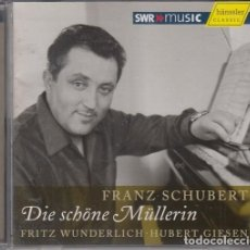 CDs de Música: FRITZ WUNDERLICH & HUBERT GIESEN - FRANZ SCHUBERT - DIE SCHONE MULLERIN - CD. Lote 265751469