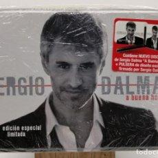 CDs de Música: SERGIO DALMA - A BUENA HORA. CAJA METAL PROMO 1CD+1PULSERA DISEÑO FIRMADA EDICIÓN ESPECIAL LIMITADA. Lote 265814274