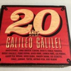 CDs de Música: 20 AÑOS DE GALILEO GALILEI. DOBLE CD RECOPILATORIO.. Lote 265954803