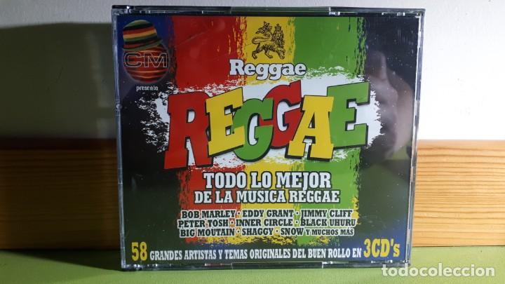 REGGAE - TODO LO MEJOR DE LA MÚSICA REGGAE - TRIPLE CD - 2003 - COMPRA MÍNIMA 3 EUROS (Música - CD's Reggae)