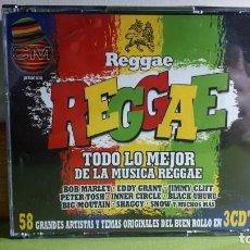CDs de Música: REGGAE - TODO LO MEJOR DE LA MÚSICA REGGAE - TRIPLE CD - 2003 - COMPRA MÍNIMA 3 EUROS. Lote 266086143